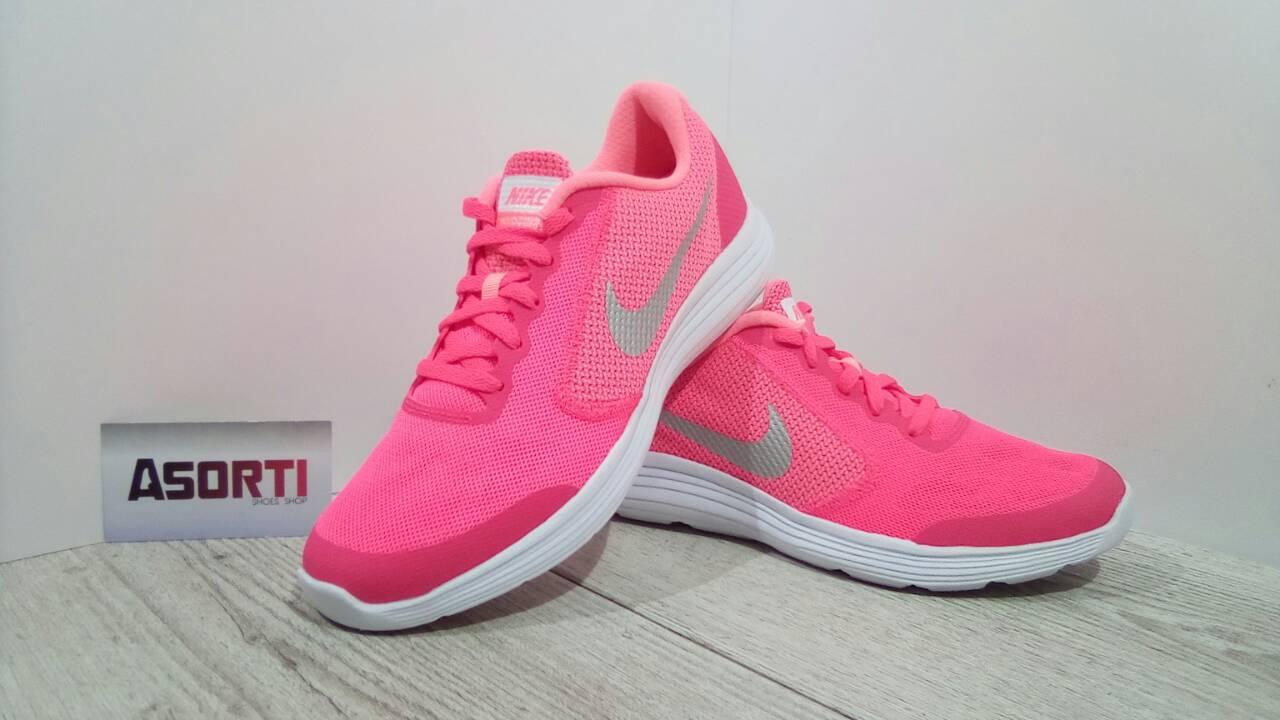 fa789252 Женские кроссовки Nike Revolution 3 GS (819416-601) розовые купить в ...