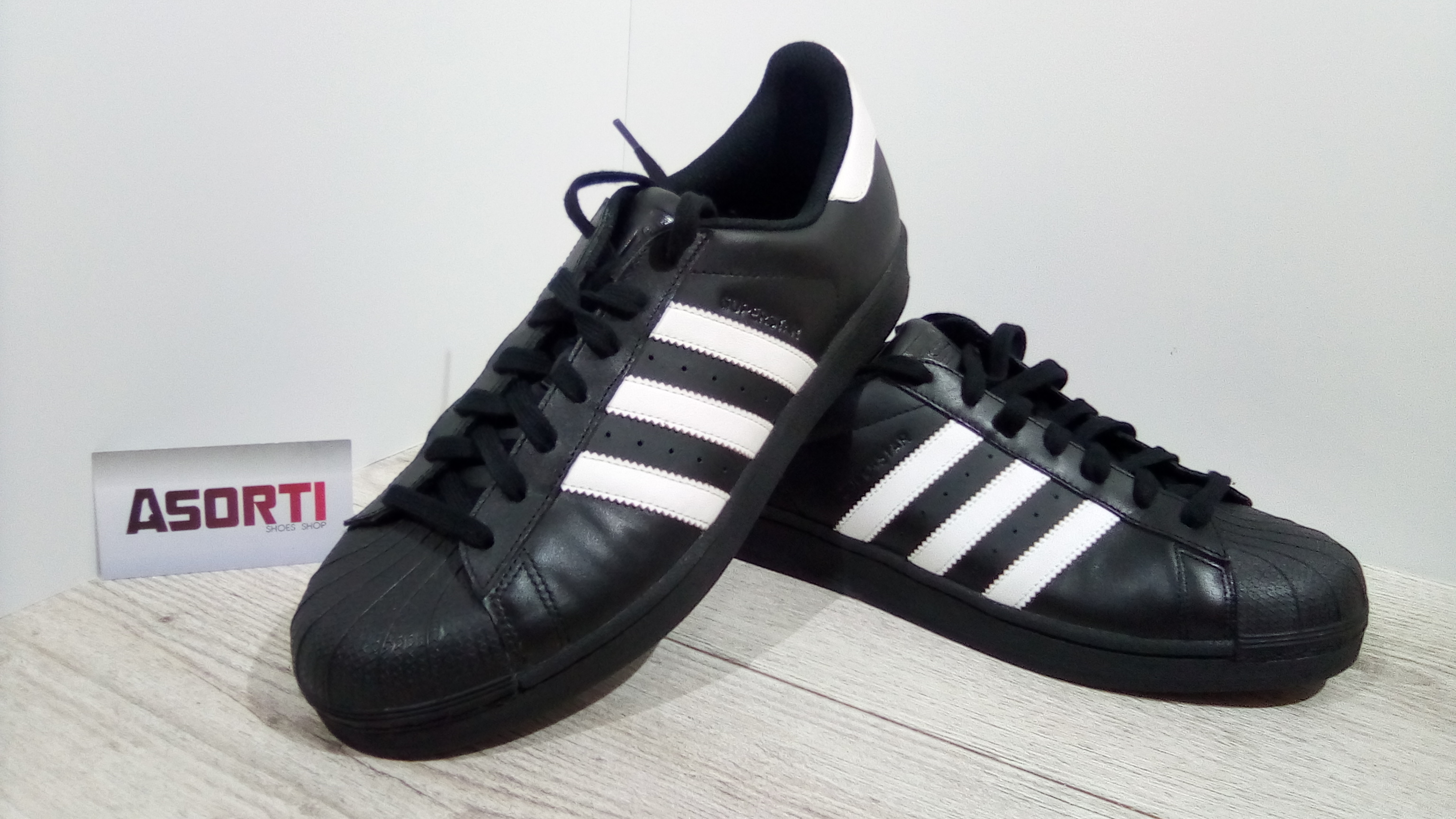 big sale 08a1e f9077 Чоловічі кросівки Adidas Superstar Foundation (B27140) чорні