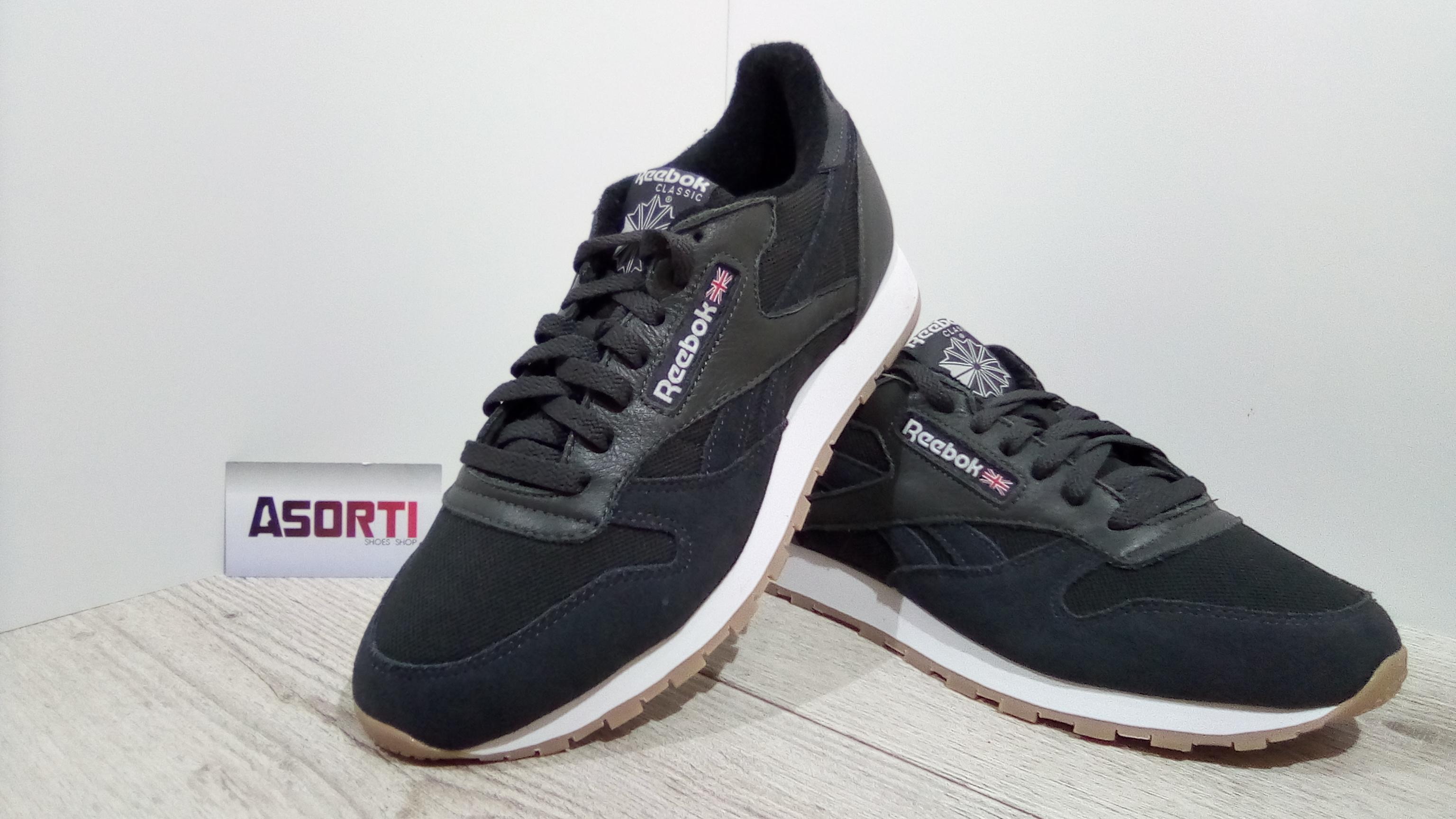 Чоловічі кросівки Reebok Classic Leather ESTL (BS9719) сірі купити в ... 8a5ecf64cc558
