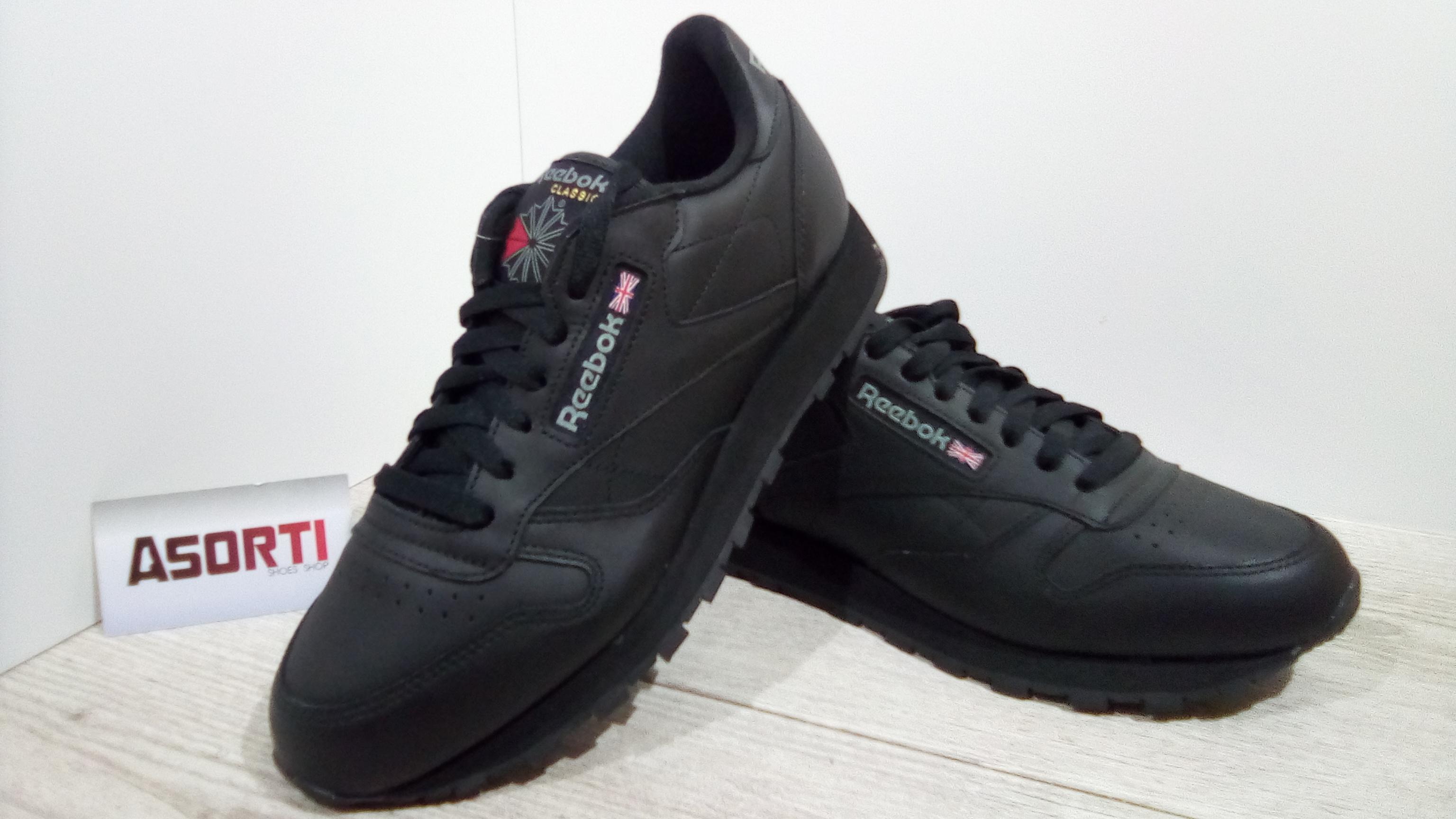 Чоловічі кросівки Reebok Classic Leather (2267) чорні купити в ... 6aa232137af2a