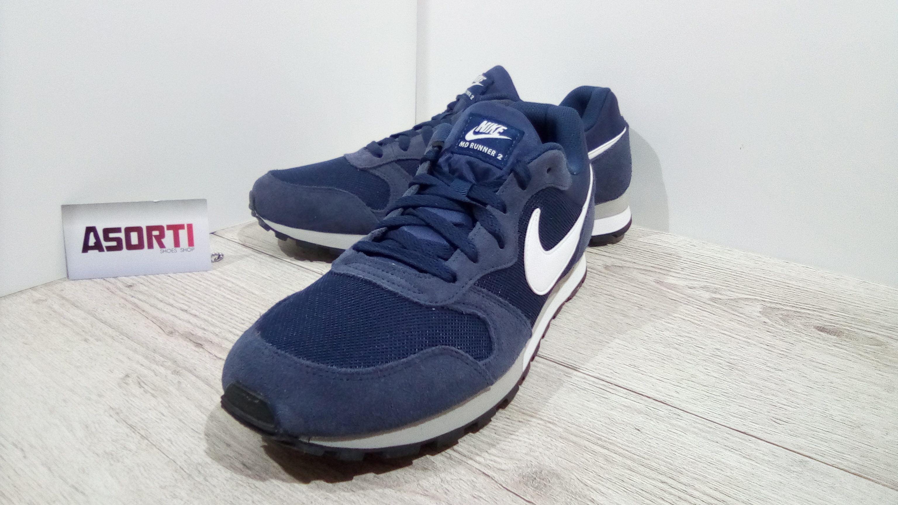 6d740144 Чоловічі бігові кросівки Nike MD Runner 2 (749794-410) темно-сині ...