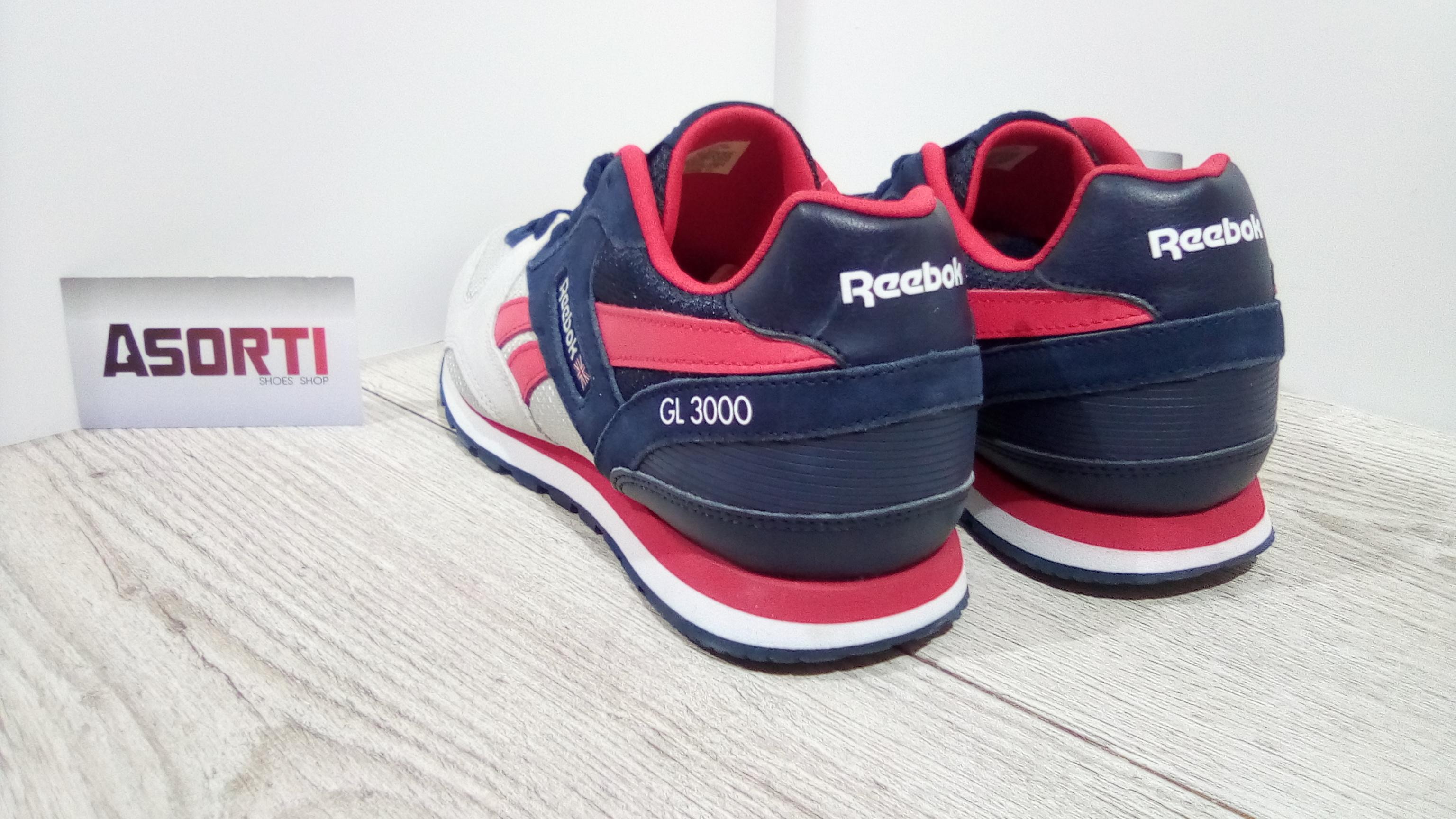 Женские кроссовки Reebok GL 3000 SP серые темно-синие (BD2436 ... ac7c289b84557