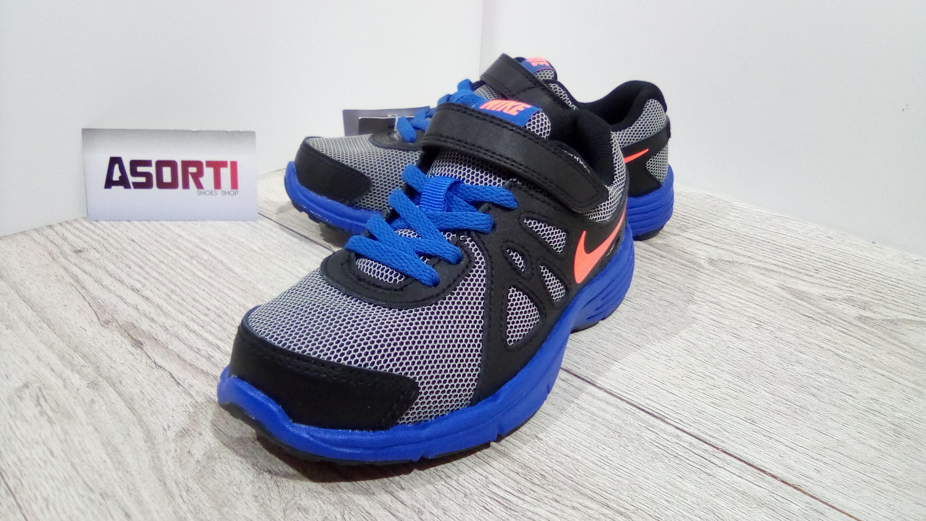 111e8b25 Дитячі кросівки Nike Revolution 2 PSV (555083-101) сині/сірі/чорні ...