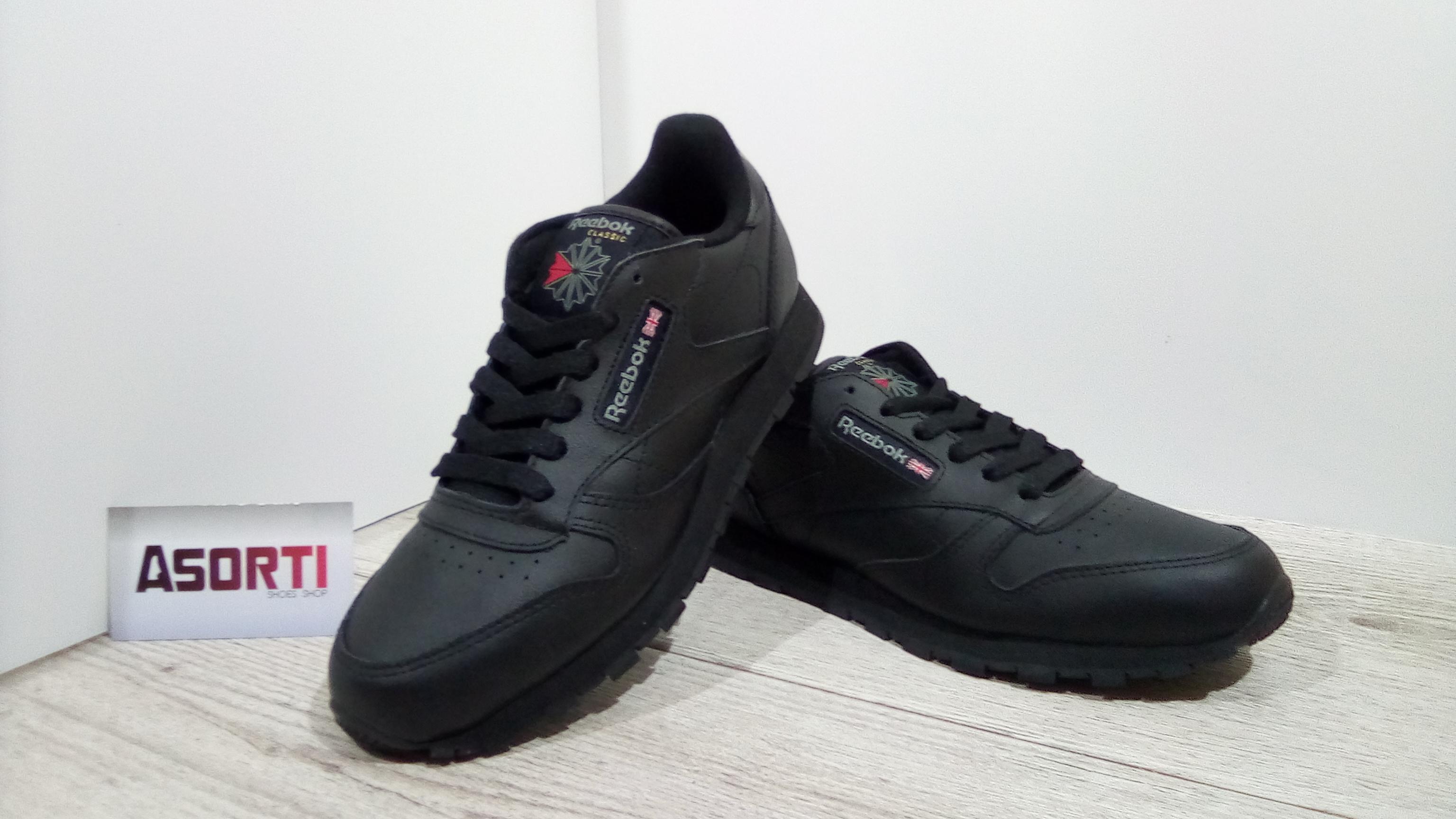 hot sale online multiple colors wholesale outlet Жіночі кросівки Reebok Classic Leather чорні (50149)
