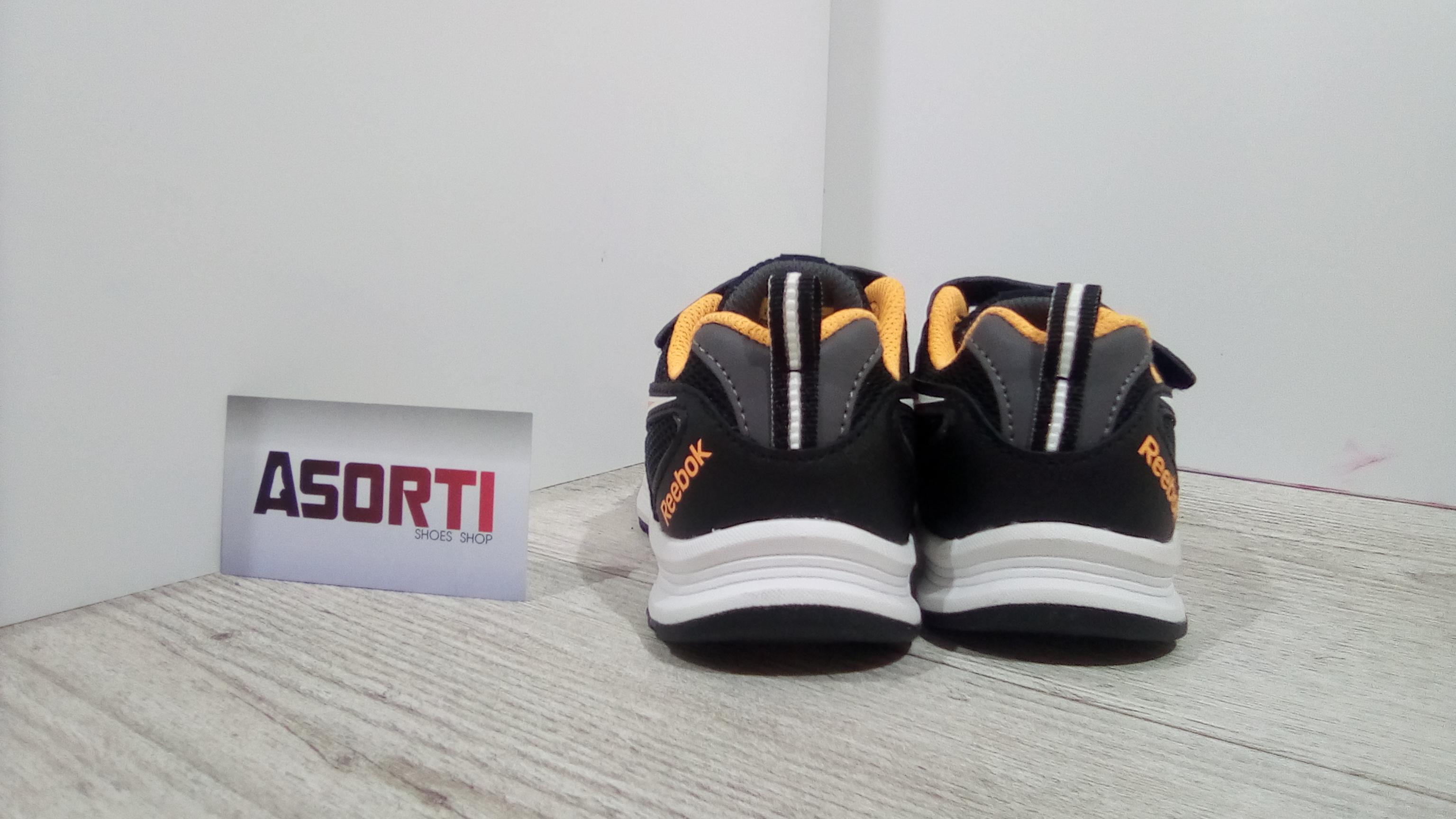 0137fe5533df53 Детские кроссовки Reebok Almotio RS 2V (BD4280) черные/оранжевые ...
