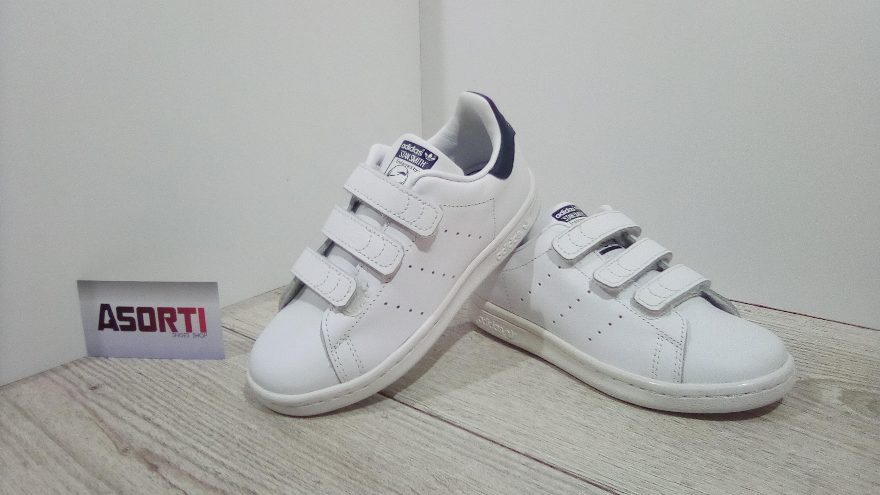 Дитячі кросівки Adidas Stan Smith CF C (S74779) білі купити в ... c3bfcd36ad708