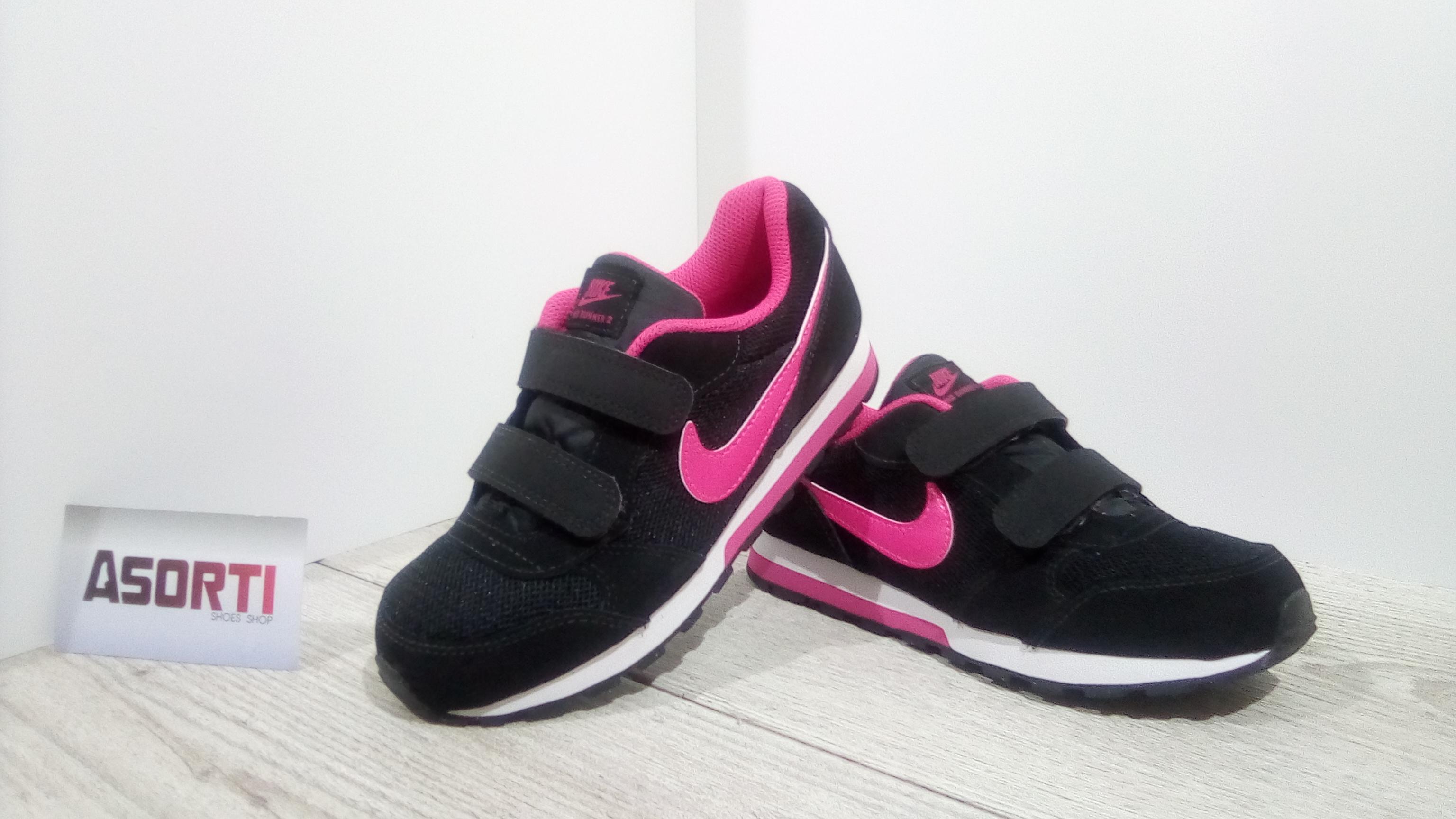 059d2092 Дитячі кросівки Nike MD Runner 2 (PSV) (807320-006) чорні купити в ...