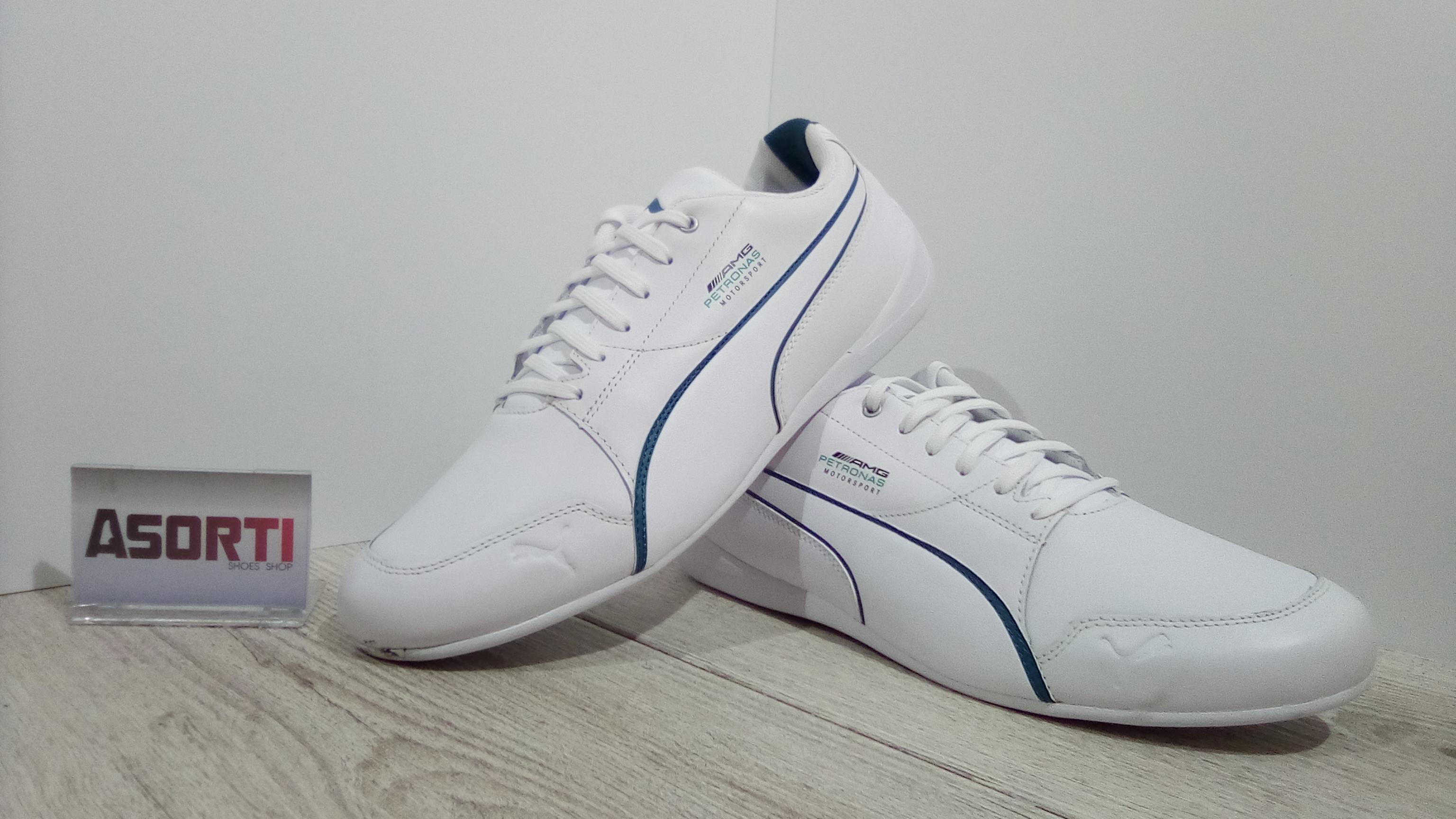 1c3974be Мужские кроссовки Puma Mercedes Motorsport Drift Cat 7 (306150-01) белые