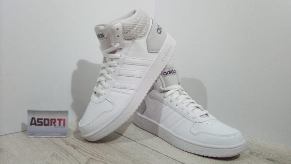 Мужские баскетбольные кроссовки Adidas Hoops 2.0 Mid (DB0106) белые