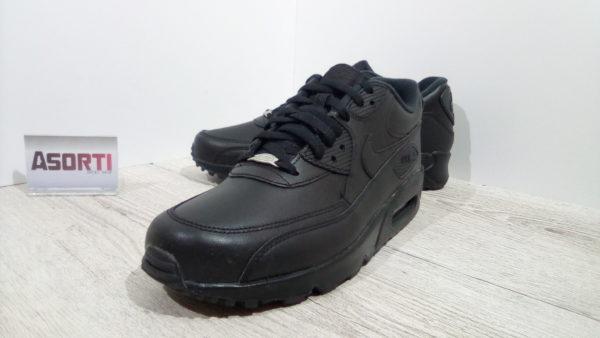 Мужские кроссовки Nike Air Max 90 Leather (302519-001) черные