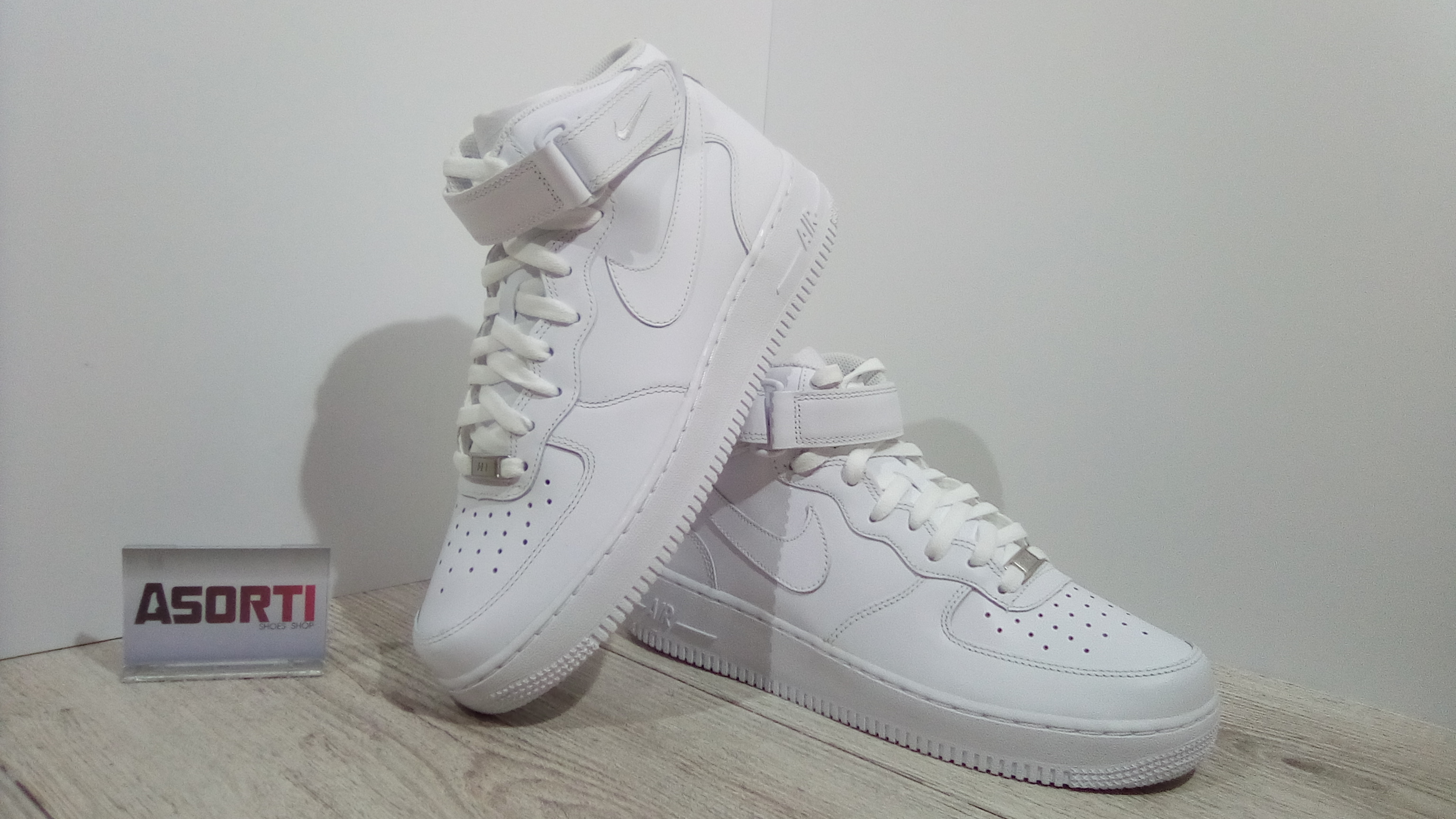 87eb7ce6 Мужские кроссовки Nike Air Force 1 Mid White (315123-111) белые ...