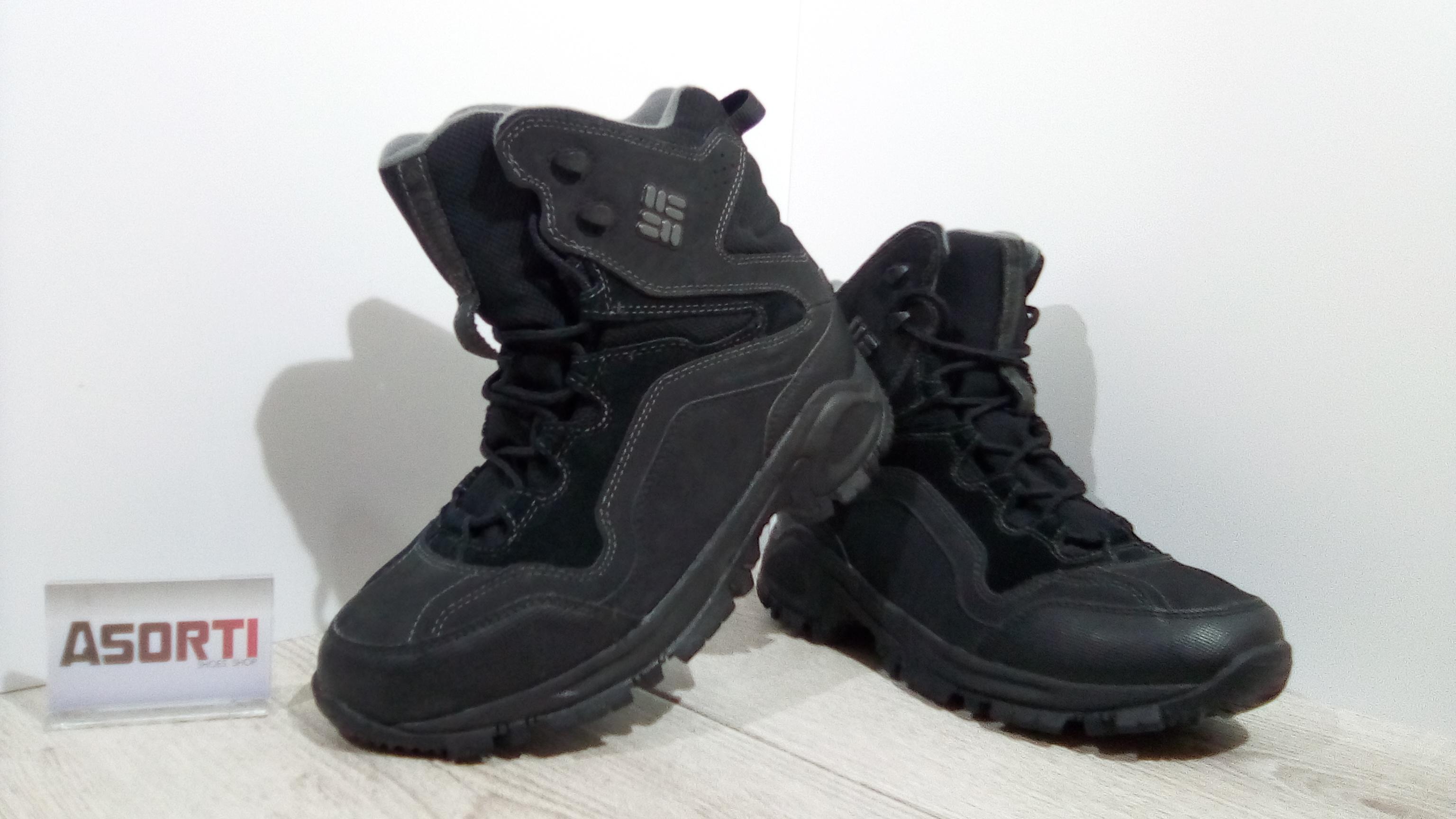 Мужские зимние ботинки Columbia Liftop Waterproof (BM1525-010) черные d8ebffcb466