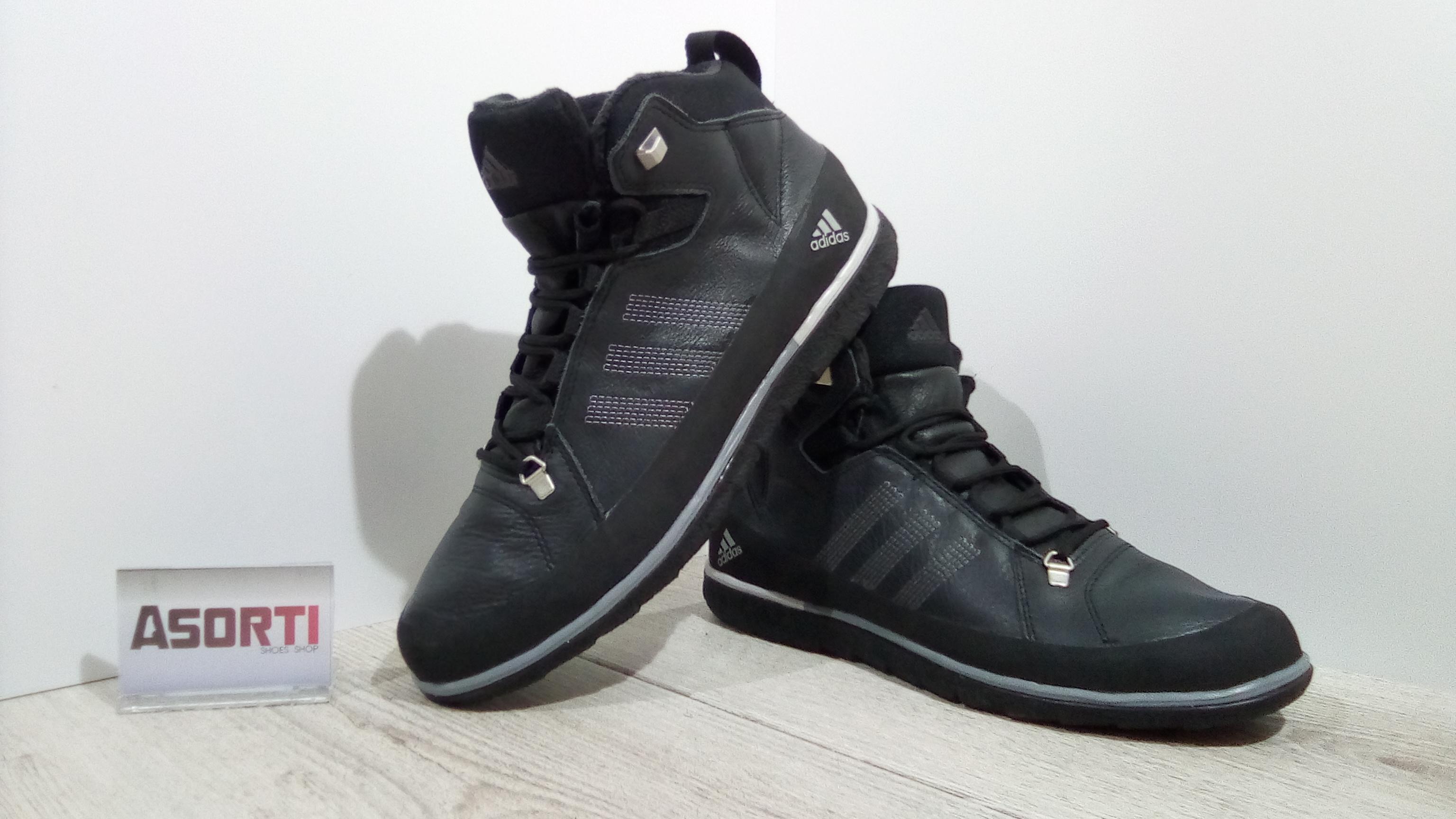 6af3119f Мужские зимние кроссовки Adidas Zappan Winter Mid (V21098) черные ...