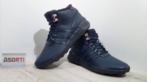 Мужские зимние кроссовки Adidas Lite Racer Mid (AQ1588) синие