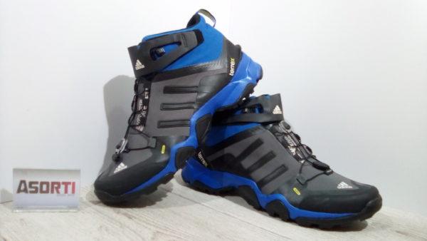 Мужские кроссовки для туризма Adidas Terrex Softshell MID (M22822) черные/синие