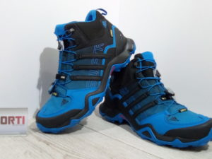 Мужские кроссовки для туризма Adidas Terrex Swift R MID GTX (S80315) синие