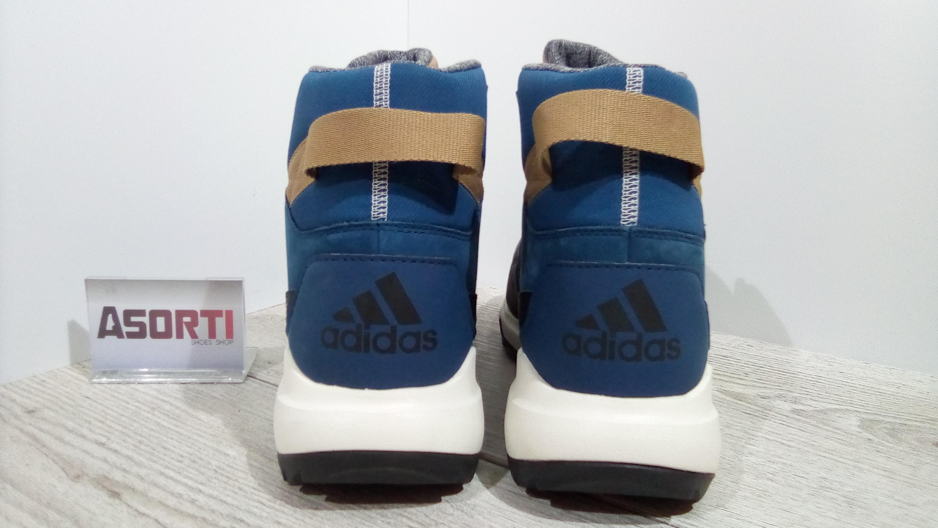 92e6cf65fba4 Мужские зимние ботинки Adidas CW Winterpitch MID CP (AQ6573) синие ...