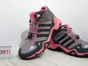 Женские треккинговые кроссовки Adidas Terrex Mid GTX K (BB1954) серо-розовые d01577f8fd238