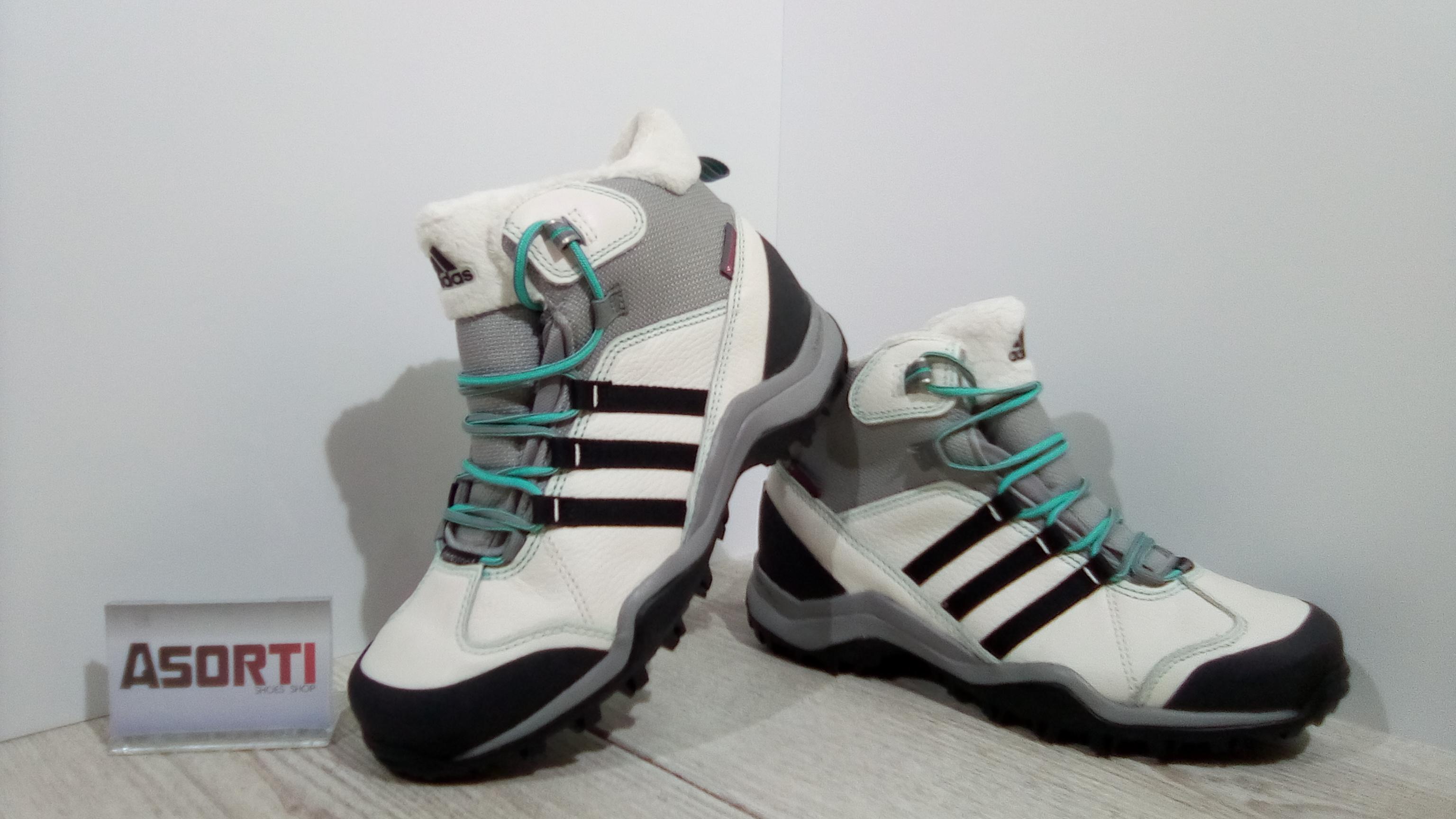 3e3a724e Женские зимние ботинки Adidas Winter Hiker II (M17332) серо-белые ...