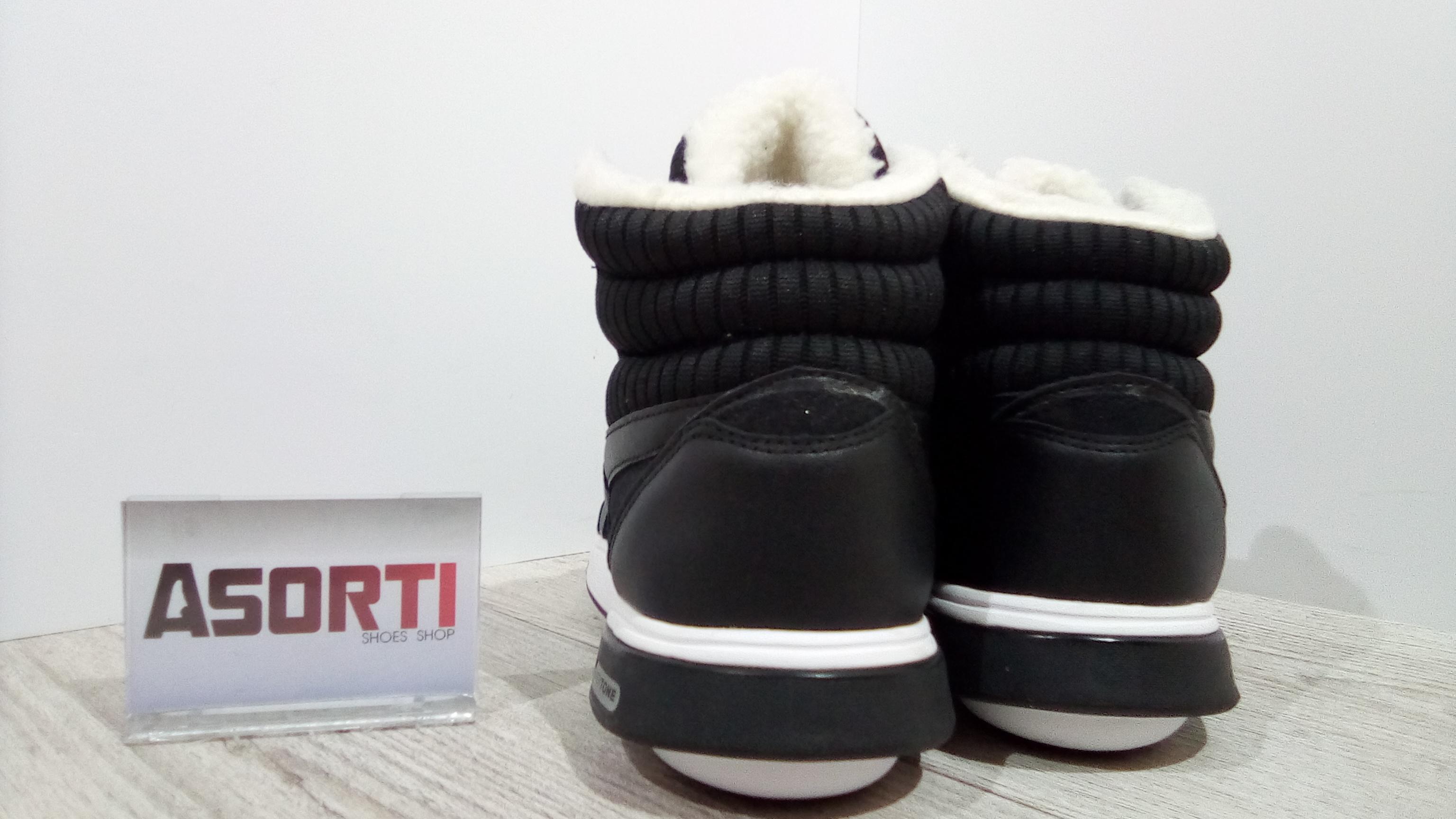 Женские зимние кроссовки Reebok Easytone Rockeasy (V65415) черные ... 7349392040066