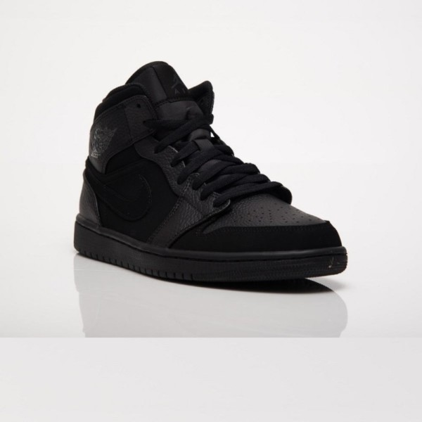 кроссовки Nike Air Jordan 1 Mid Black (554724-064)